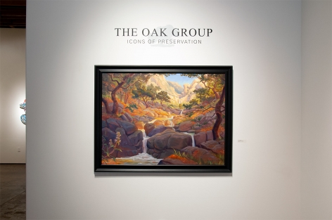 THE OAK GROUP: Icons of Preservation installation photograph with Kevin Gleason