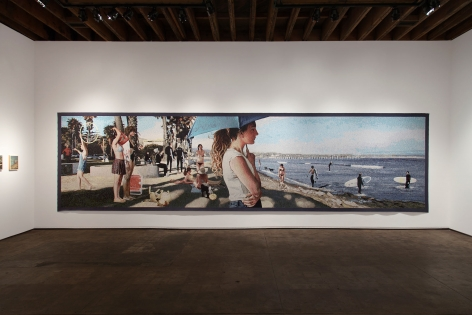 John Nava: Painting & Tapestry installation photograph