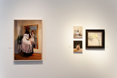 Installation photograph of THE SUMMER SALON 2019 II with Patricia Chidlaw, Leslie Lewis Sigler, and Alia E. El-Bermani