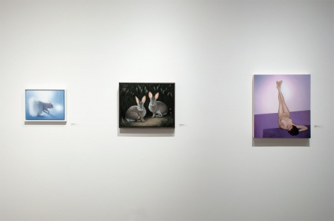 Installation photograph of REAL WOMEN: Realist Art by American Women, Susan McDonnell, Laura Krifka