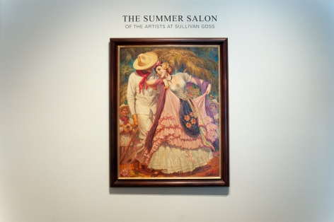 Installation photograph of SUMMER SALON II, 2019 with Jesus Helguera,