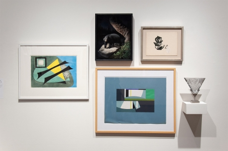 MIXOLOGY installation photograph with Thomas Brownell Eldred, Susan McDonnell, Sidney Gordin, and Ken Bortolazzo