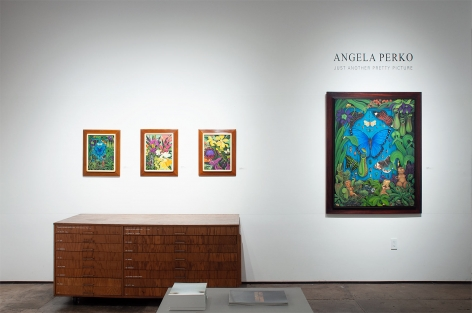 Installation shot of ANGELA PERKO: Just Another Pretty Picture with Amazon, Maya, Mbashe River Buff, and Amazon 2