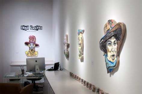 INGA GUZYTE #rebelwomen installation photograph, Bella Abzug, Pussy Riot, Germaine Greer, Marina Abramovic