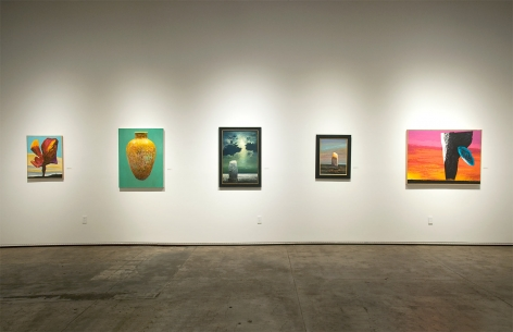 Installation photograph of MICHAEL DVORTCSAK: A Life's Work with Di Lettore, Spontaneous Vessell II, Standing Stone in Moonlight, Standing Stone, Kustos Attended