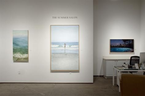 Installation photograph of The Summer Salon 2021, Nicole Strasburg, John Nava, Patricia Chidlaw