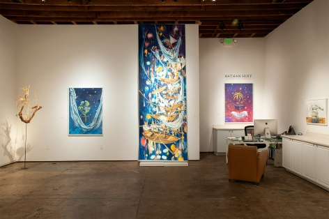 Installation photograph of NATHAN HUFF: The Stories We Tell Ourselves