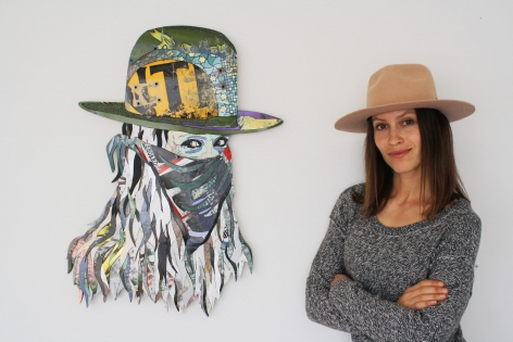 INGA GUZYTE with work for upcoming show