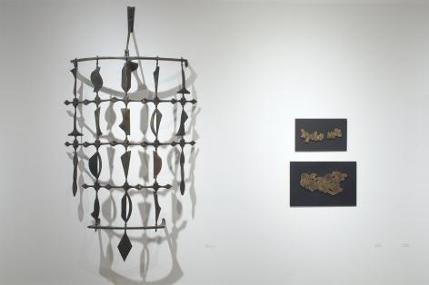 Installation photograph of ORGANIC: Textural & Biomorphic • Abstract & Conceptual: Clay, Wood, Fiber, Paper & Metal, Neil Goodman, Sidney Gordin