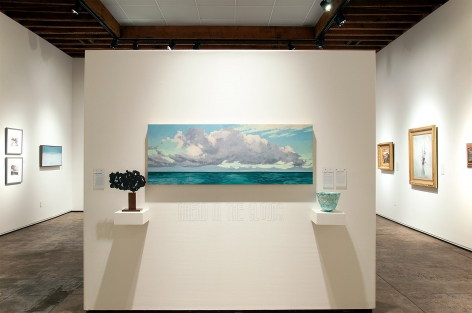 AHEAD IN THE CLOUDS installation, John Ng, Sidney Gordin, Nicole Strasburg, James Haggerty, Thomas Moran, Leon Dabo