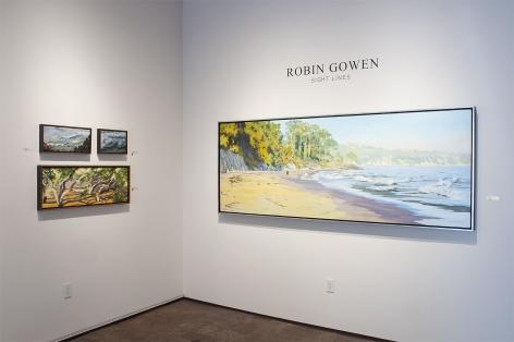 Installation photograph of ROBIN GOWEN: Sight Lines, 2021