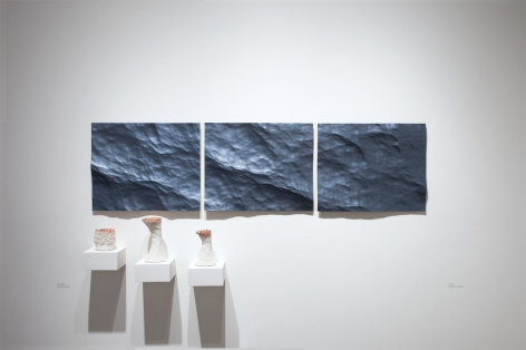 Installation photograph of ORGANIC: Textural & Biomorphic • Abstract & Conceptual: Clay, Wood, Fiber, Paper & Metal, Lynda Weinman, Alex Rasmussen