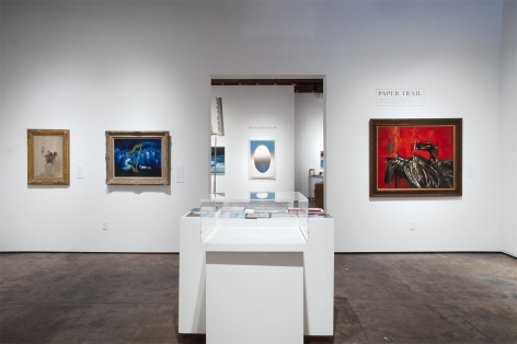 Installation photograph of PAPER TRAIL: The Life Story of Great Works of Art
