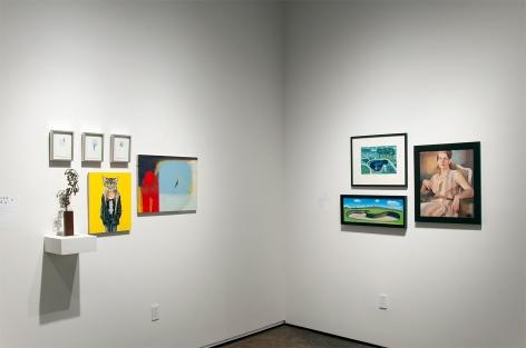 MIXOLOGY installation photograph with Nicole Strasburg, Sidney Gordin, John Nava, Maria Rendon, Hank Pitcher, and Betty Lane