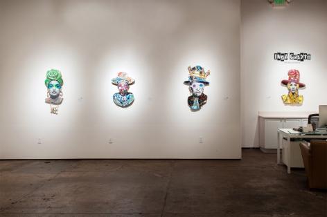 INGA GUZYTE #rebelwomen installation photograph, Alexandria Ocasio-Cortez, Josephine Kulea, Ruth Bader Ginsburg, Marina Abramovic