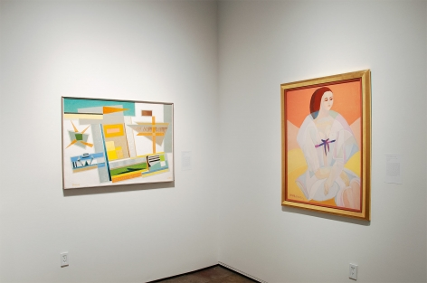 Installation photograph of THE ANCHORS: Masterworks from the Estates at Sullivan Goss, Werner Drewes, Anya Fisher