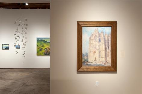 Installation photograph of THE ANCHORS: Masterworks from the Estates at Sullivan Goss, Colin Campbell Cooper, Hank Pitcher, Ken Bortolazzo