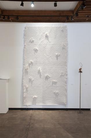 Installation photograph of ORGANIC: Textural & Biomorphic • Abstract & Conceptual: Clay, Wood, Fiber, Paper & Metal, Hannah Vainstein, Nathan Huff
