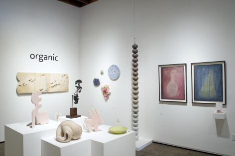 Installation photograph of ORGANIC: Textural & Biomorphic • Abstract & Conceptual: Clay, Wood, Fiber, Paper & Metal,