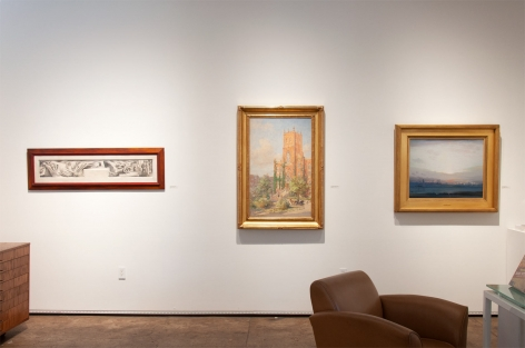 THE FALL SALON 2019 installation shot, Richard Haines, Colin Campbell Cooper, Leon Dabo