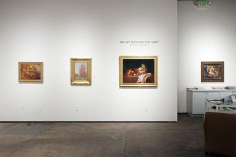 Installation photograph of The San Francisco Fall Show at Sullivan Goss, 2021, Meredith Brooks Abbott, Leon Dabo, Martha Mayer Erlebacher, Francis Criss