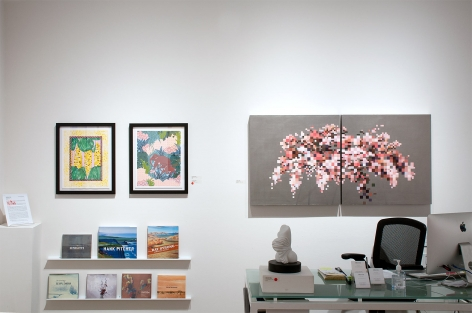 Installation photograph of PATTERN RECOGNITION: Claudia Borfiga | Yumiko Glover | Julika Lackner