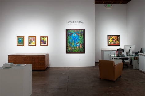 Installation shot of ANGELA PERKO: Just Another Pretty Picture with Amazon, Maya, Mbashe River Buff, Amazon 2, and Exotica