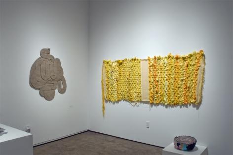 Installation photograph of ORGANIC: Textural & Biomorphic • Abstract & Conceptual: Clay, Wood, Fiber, Paper & Metal, Stephanie Dotson, Minga Opazo