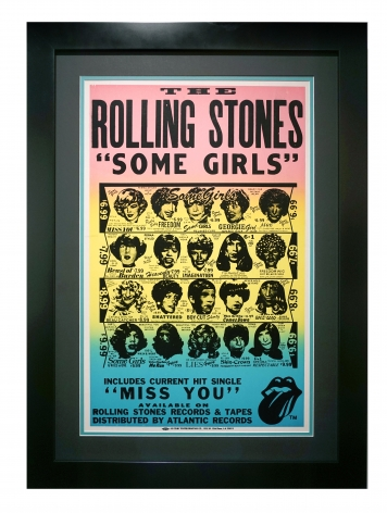 """Poster for Rolling Stones Some Girls album, 1978 by Peter Corriston. An in-store record promotion for """"Some Girls"""""""