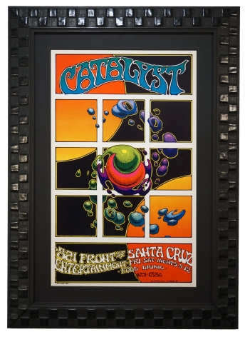Original Poster for opening of the Catalyst in Santa Cruz, 1969, by Greg Irons