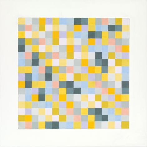 Antonio Asis, Untitled from the series Labyrinthe Polychrome, 1985, Acyrlic on wood, 19 5/8 x 19 5/8 in. (49.8 x 50 cm.)