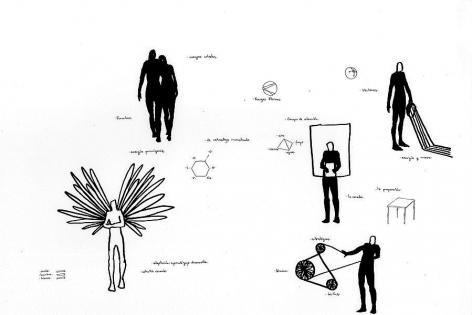 Cesar González, Untitled (Constellation # 04), 2013. Ink on paper, 16 1/2 in. x 11 1/2 in.