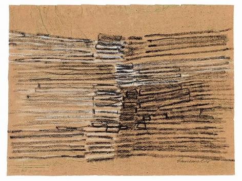 "Sérvulo Esmeraldo, Untitled, 1966. Oil pastel on paper, 19"" x 14 3/4"" / 48.2 x 36.3 cm"
