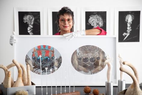 Maria Fernanda Cardoso in her studio, Sydney, Australia, 2020. Photograph: Daniel Boud.