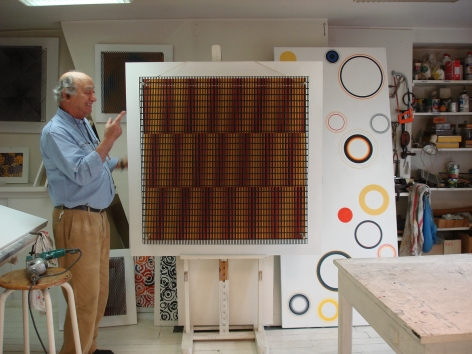 Antonio Asis in his studio, 2008.