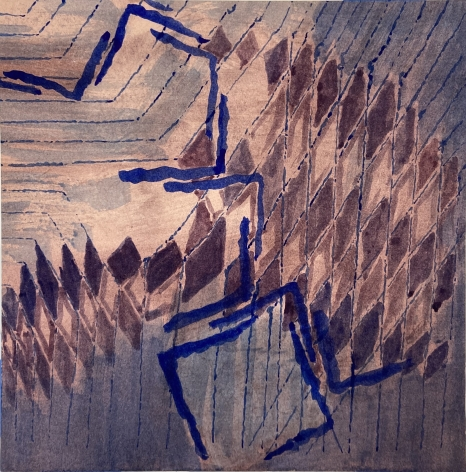 Gego, Untitled, 1986. Watercolor on paper, 11 3/4 x 11 5/8 in.