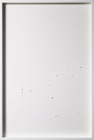Marco Maggi, No visual distancing (White), 2021. Paper on paper on paper, 36 x 24 in. (91.4 x 61 cm.)