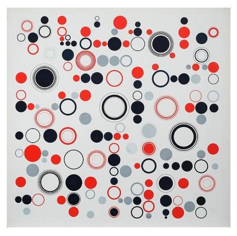 Antonio Asis, Geometría Libre, 1970. Gouache on paper (Cat. No. 2353), 29 7/8 in. x 30 5/16 in.