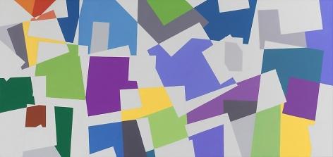 "Graciela Hasper, Untitled 2010, Acrylic on canvas, 34.6"" x 73.6"""