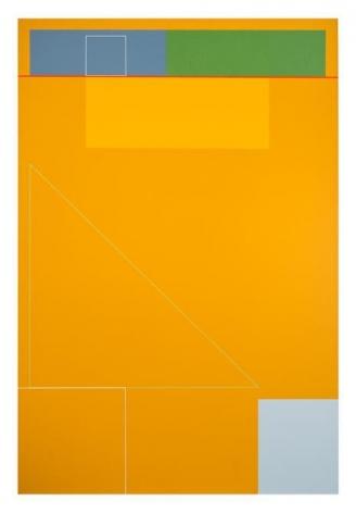 Antonio Lizárraga, A linha, 2008. German pigments on canvas, 47 1/4 x 31 1/2 in.