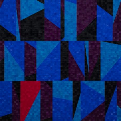 Gabriel de la Mora, 3,983 I, 2020. Pigmented turkey feathers on museum cardboard, 31 1/2 x 31 1/2 x 1 9/16 in. (80 x 80 x 4 cm.)
