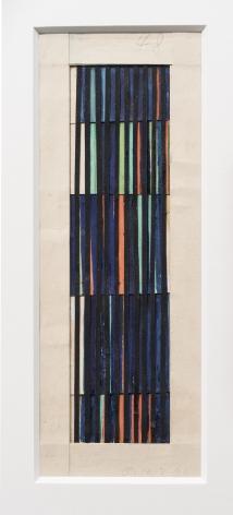 Alejandro Otero, Untitled, [Sketch Coloritmo #48], 1960. Paper cut and gouache, 8 13/16 x 3 5/16 in.
