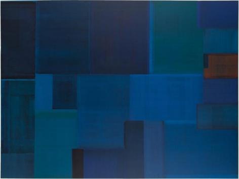 Gabriel de la Mora, MCI / 26 - I f, 2015. Discarded offset printing rubber blankets, wood mounting, 70 11/16 x 94 1/2 x 2 3/8 in. / 180 x 240 x 6 cm.