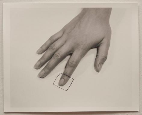Liliana Porter, The Square I, 1973. Gelatin silver photograph, 8 1/2 in. x 11 in.