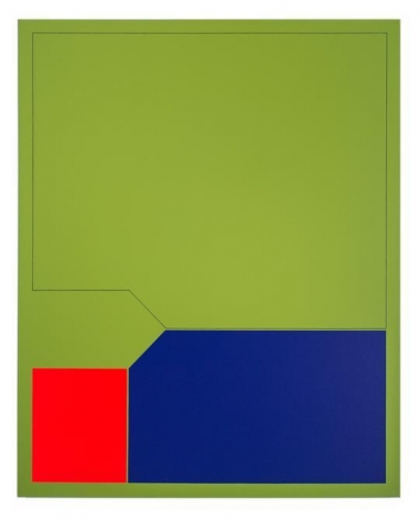 Antonio Lizárraga, Orvalho, 2007. German pigments on canvas, 39 3/8 x 31 1/2 in.