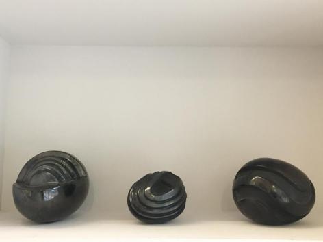 Miguel Angel Ríos, Untitled, 1987. Oaxaca ceramic, 10 x 8 1/2 in., 8 x 6 in., 10 x 8 1/2 in. / 25.4 x 21.6 cm.,  20.3 x 15.2 cm.,  25.4 x 21.6 cm.