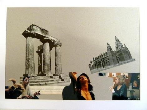 Kader Attia, Modern Architecture Genealogy #3, 2014. Collage, 19 1/8 in. x 26 in.