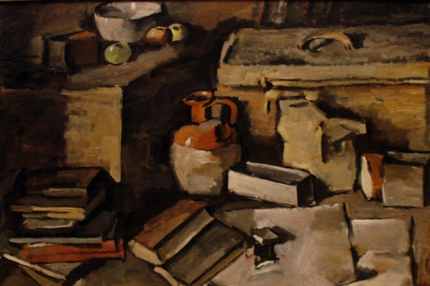 Gonzalo Fonseca, Still Life, c. 1950. Oil on canvas, 26 x 37in.