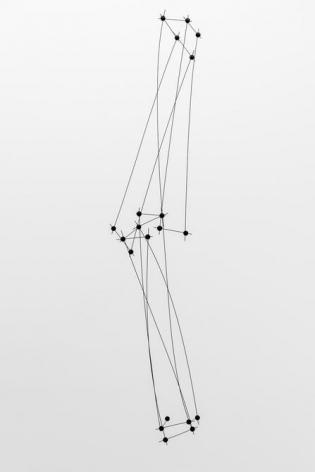 Magdalena Fernández, 12ee016, 2016. Steel, rubber, 117 x 30 1/2 x 20 1/4 in.