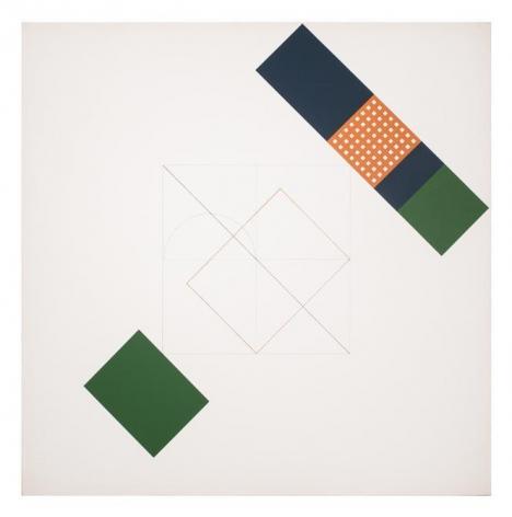 Antonio Lizárraga, Plano de cento e oitenta graus, 1996. German pigments on canvas, 47 1/4 x 47 1/4 in.